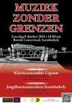 Dankzij de dirigent van de jeugdharmonie Szombathely, die Nederlands sprak, was er ook een Nederlandstalig affiche.