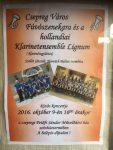 De affiche die ons concert in Csepreg aankondigde.