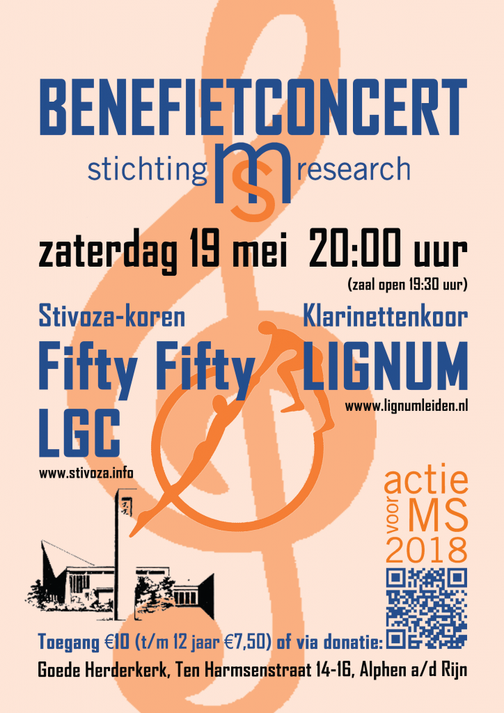 Affiche benefietconcert tbv MS Research, door Stivoza en Lignum