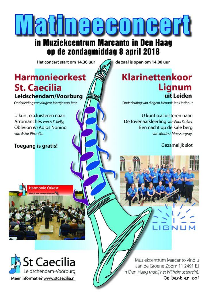Matineeconcert Lignum & St. Caecilia 8 april 2018